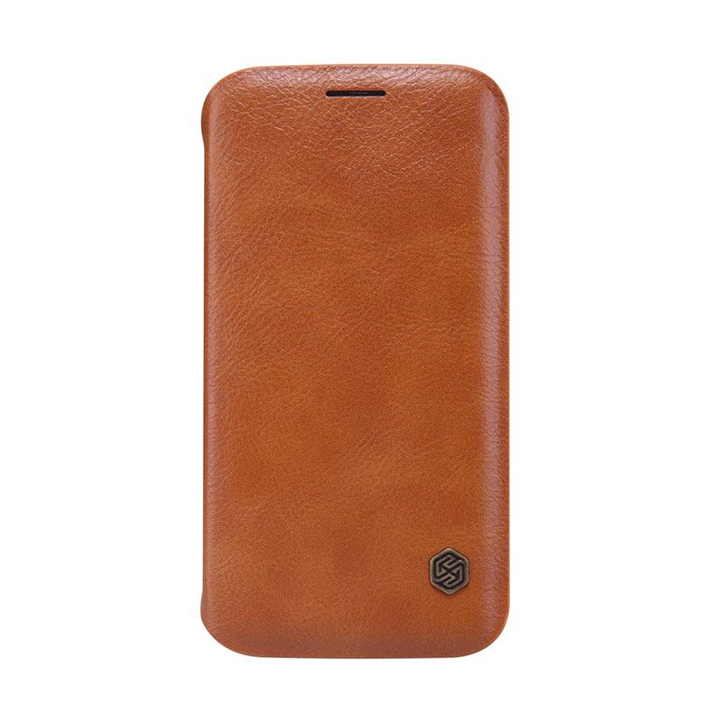 Nillkin Original Qin Brown Leather Casing for Samsung Galaxy S6 Edge