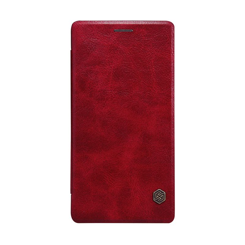 Nillkin Original Qin Leather Red Flip Cover Casing for OnePlus 2