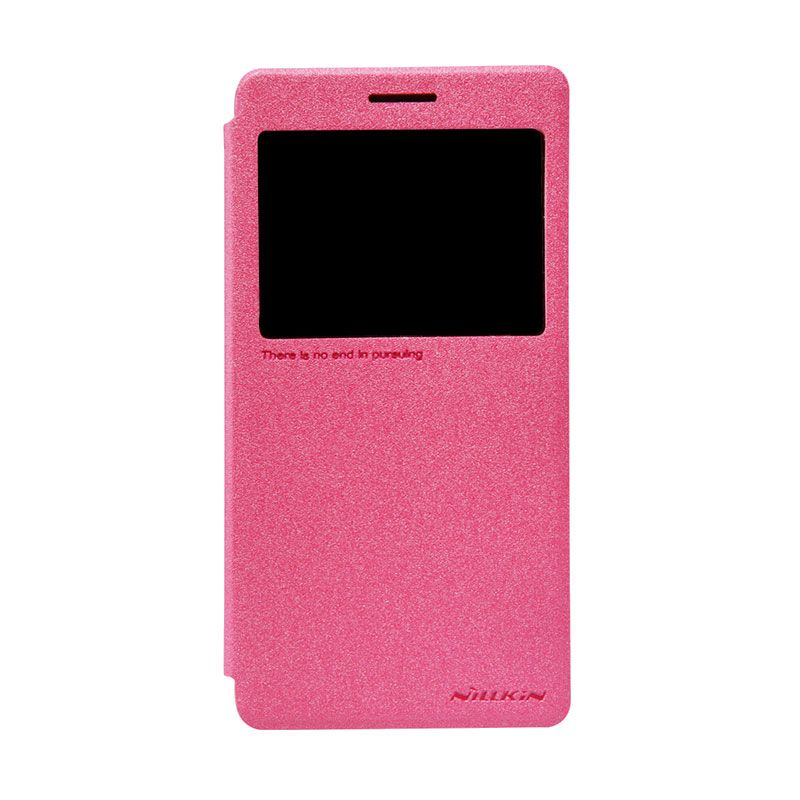 Nillkin Sparkle Leather Rose Red Casing for Lenovo A7000 or A7000 [Original/Special Edition]