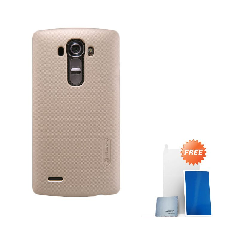 Nillkin Super Frosted Shield Gold Casing for LG G4 + Screen Protector