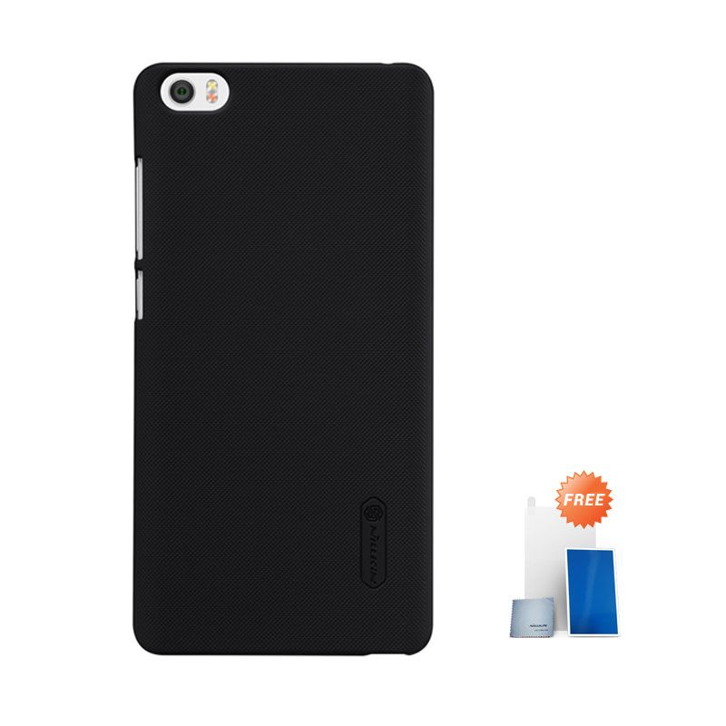 Nillkin Super Frosted Shield Black Hardcase Casing for Xiaomi Mi Note + Screen Protector