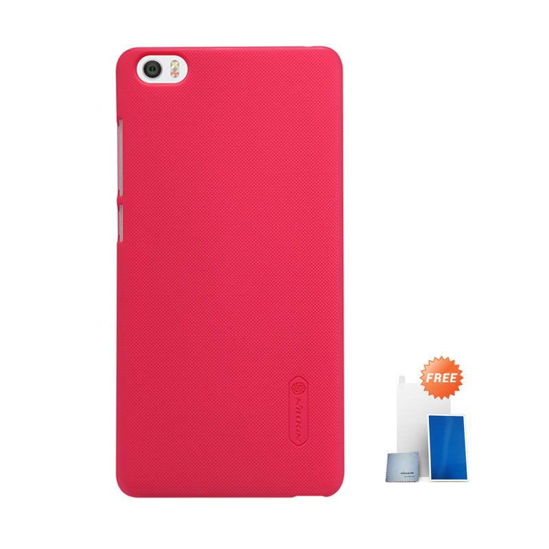 Nillkin Super Frosted Shield Red Hardcase Casing for Xiaomi Mi Note + Screen Protector
