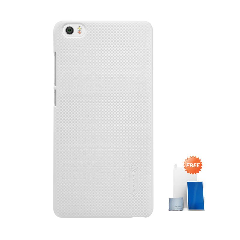 Nillkin Super Frosted Shield White Hardcase Casing for Xiaomi Mi Note + Screen Protector
