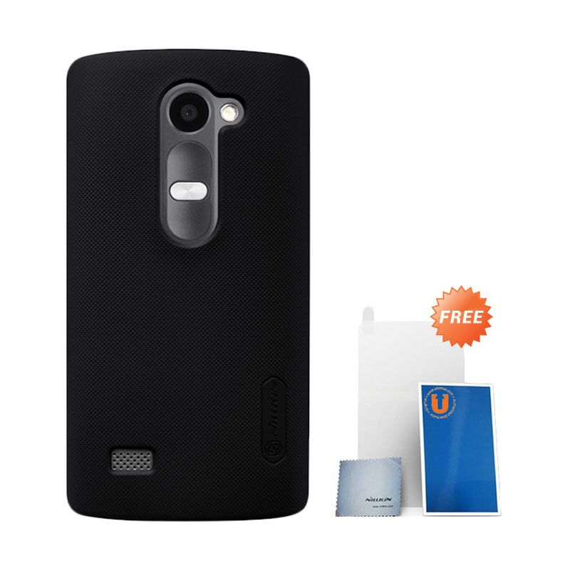 Nillkin Super Frosted Shield Hardcase Black Casing for LG Leon + Screen Protector
