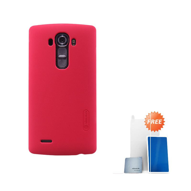 Nillkin Super Frosted Shield Red Casing for LG G4 + Screen Protector