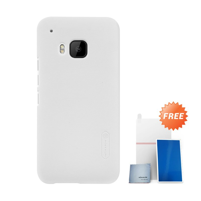 Nillkin Super Frosted Shield White Hardcase Casing for HTC ONE M9 + Screen Protector