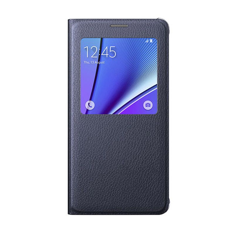 Samsung S View Black Flip Cover Casing for Samsung Galaxy Note 5 [Original]