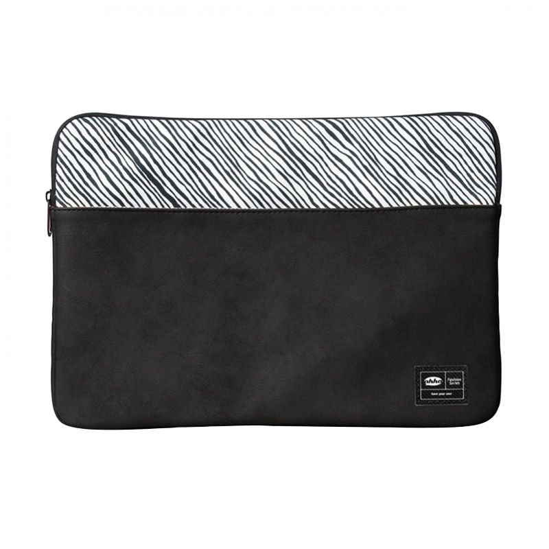 Ahha Ricci Universal Sleeve Black Softcase for Laptop or Macbook [up to 13 Inch]