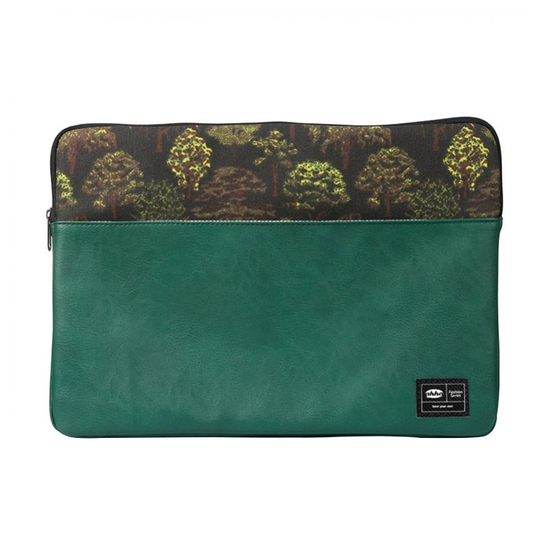 Ahha Ricci Universal Sleeve Green Softcase for Laptop or Macbook [up to 13 Inch]
