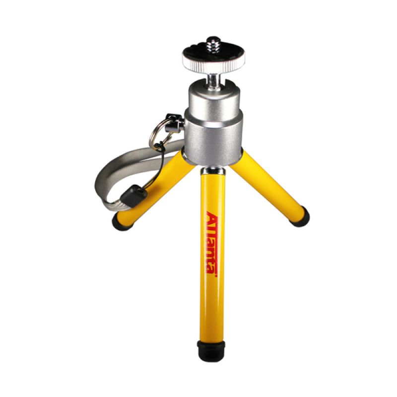 Attanta M-103A Kuning Mini Tripod for Smartphone [Holder L Small]