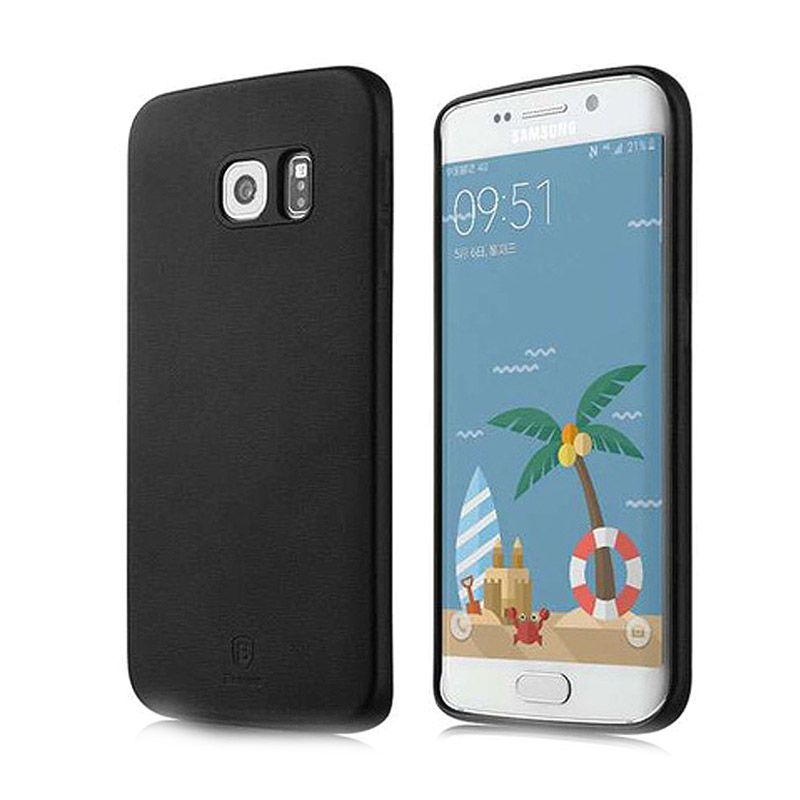 Baseus Slim Black Soft Case Casing for Samsung Galaxy S6 Edge