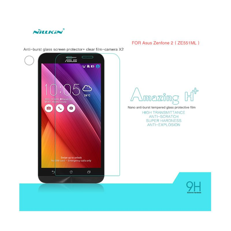 Nillkin Amazing H+ Anti-Explosion Tempered Glass 9H for Asus Zenfone 2 ZE550ML or ZE551ML [0.3 mm]