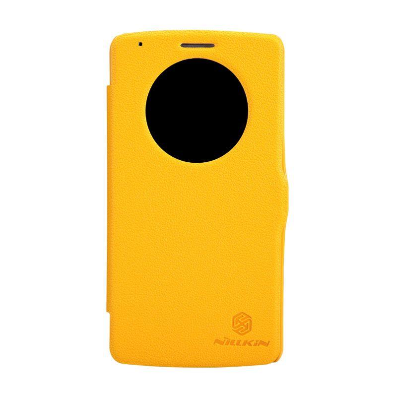 Nillkin Fresh Flip Case Kuning Casing for LG G3