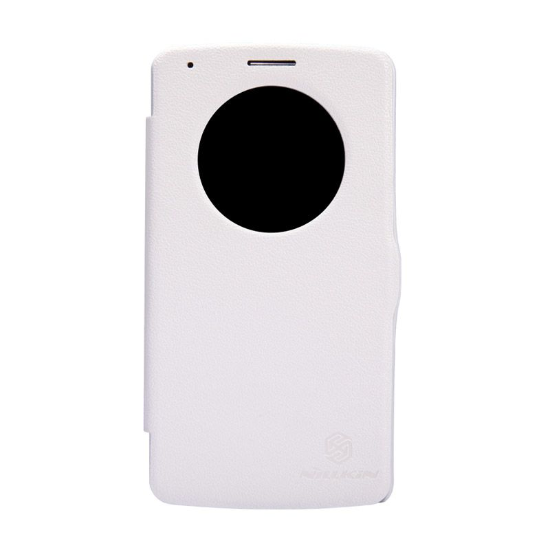 Nillkin Fresh Leather Flip Case Putih Casing for LG G3