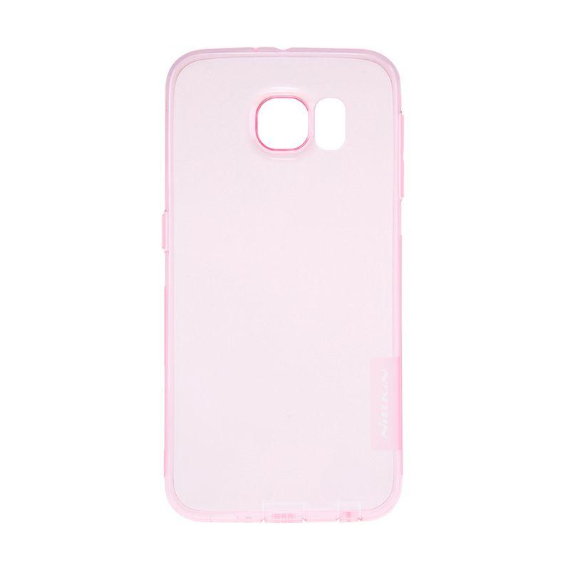 Nillkin Nature TPU Pink Transparan Casing for Samsung Galaxy S6