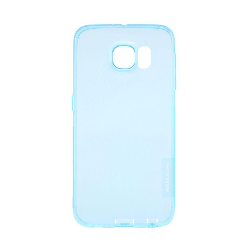 Nillkin Nature TPU Transparan Soft Blue Casing for Samsung Galaxy S6 Edge
