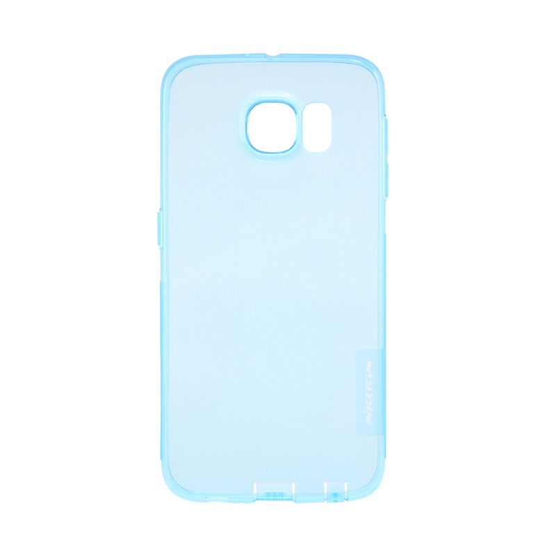 Nillkin Nature TPU Transparan Soft Blue Casing for Galaxy S6