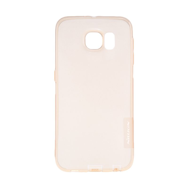 Nillkin Nature TPU Transparan Soft Gold Casing for Galaxy S6