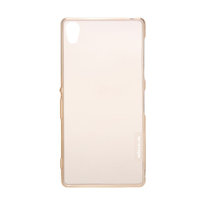 Nillkin Nature TPU Transparan Soft Gold Casing for Sony Xperia Z3