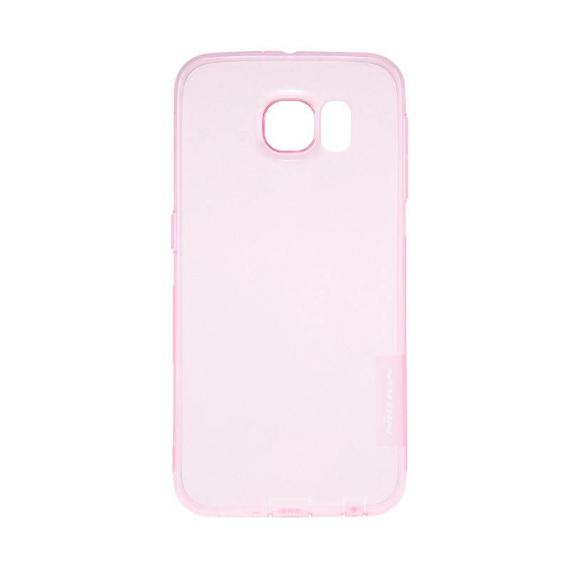 Nillkin Nature TPU Transparan Soft Pink Casing for Samsung Galaxy S6 Edge