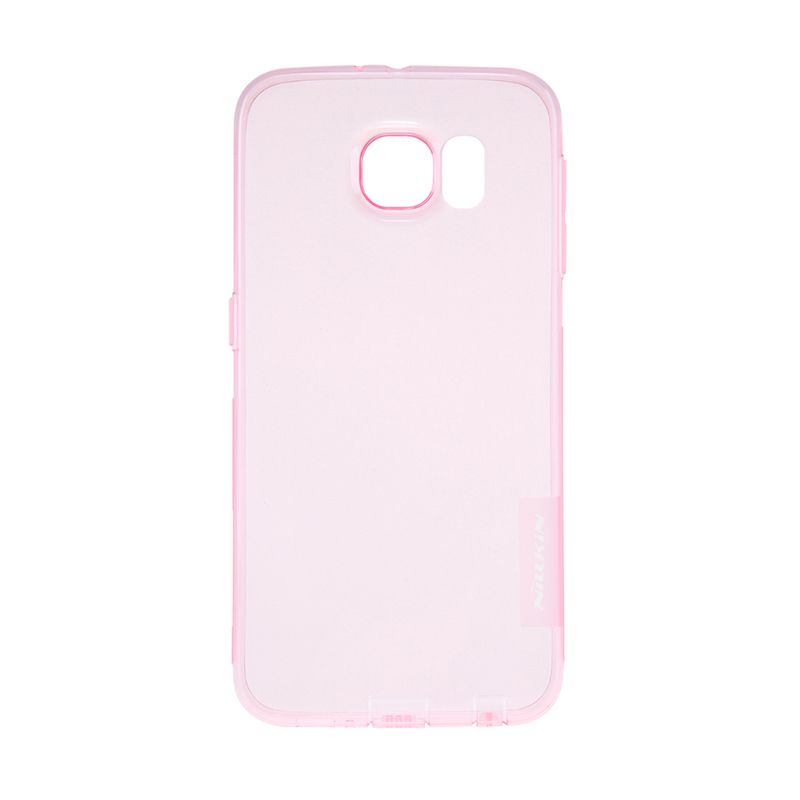 Nillkin Nature TPU Transparan Soft Pink Casing for Galaxy S6