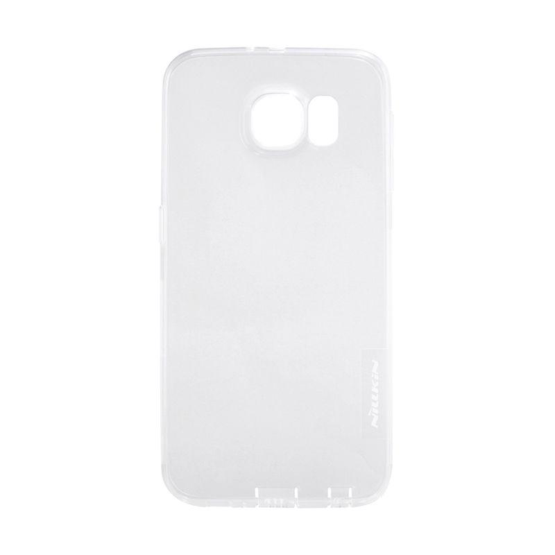 Nillkin Nature TPU Transparan Soft White Casing for Samsung Galaxy S6 Edge