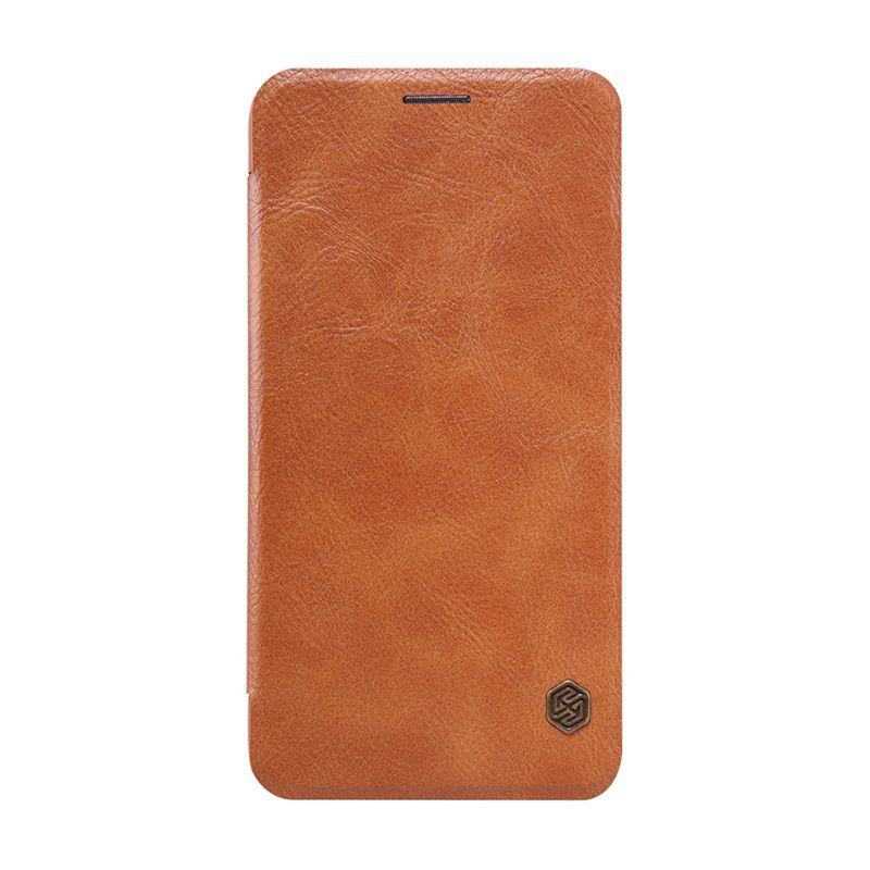 Nillkin Original Qin Leather Coklat Casing for Asus Zenfone 2 ZE550ML or ZE551ML [5.5 Inch]