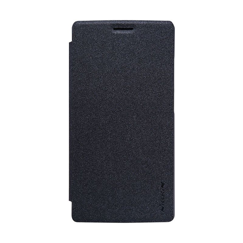 Nillkin Original Sparkle Leather Black Flip Cover Casing for OnePlus 2