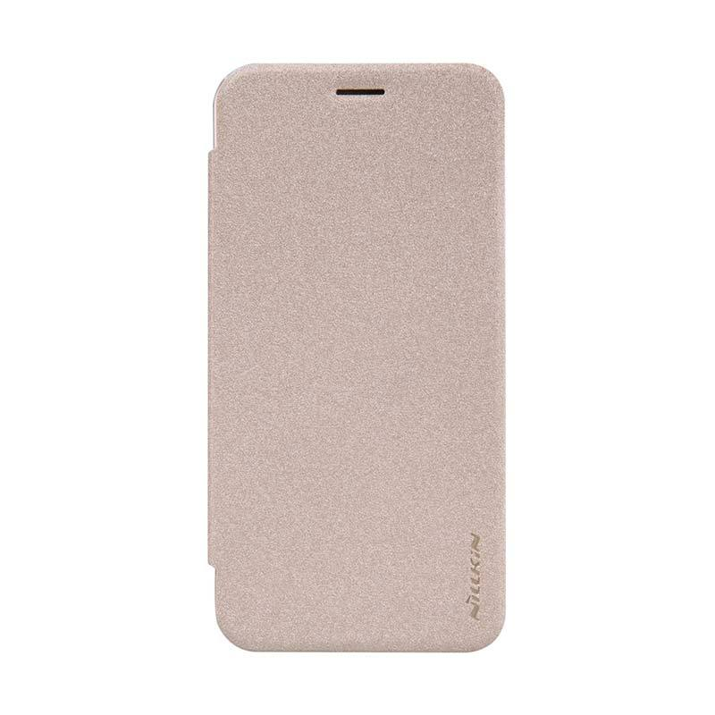 Nillkin Original Sparkle Leather Gold Casing for Asus Zenfone 2 ZE500CL [5 Inch]