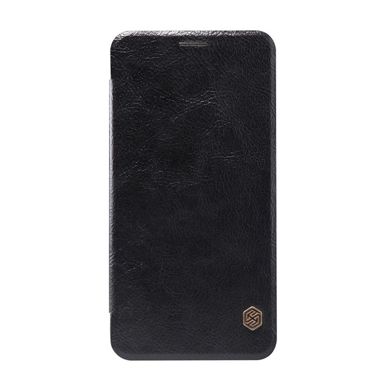 Nillkin Original Qin Leather Hitam Casing for Asus Zenfone 2 ZE550ML or ZE551ML [5.5 Inch]