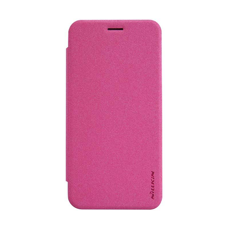 Nillkin Original Sparkle Leather Rose Red Casing for Asus Zenfone 2 ZE500CL [5 Inch]