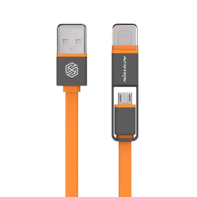 Nillkin Plus 2 in 1 USB Data Cable [iOS 8 Supported/Original]