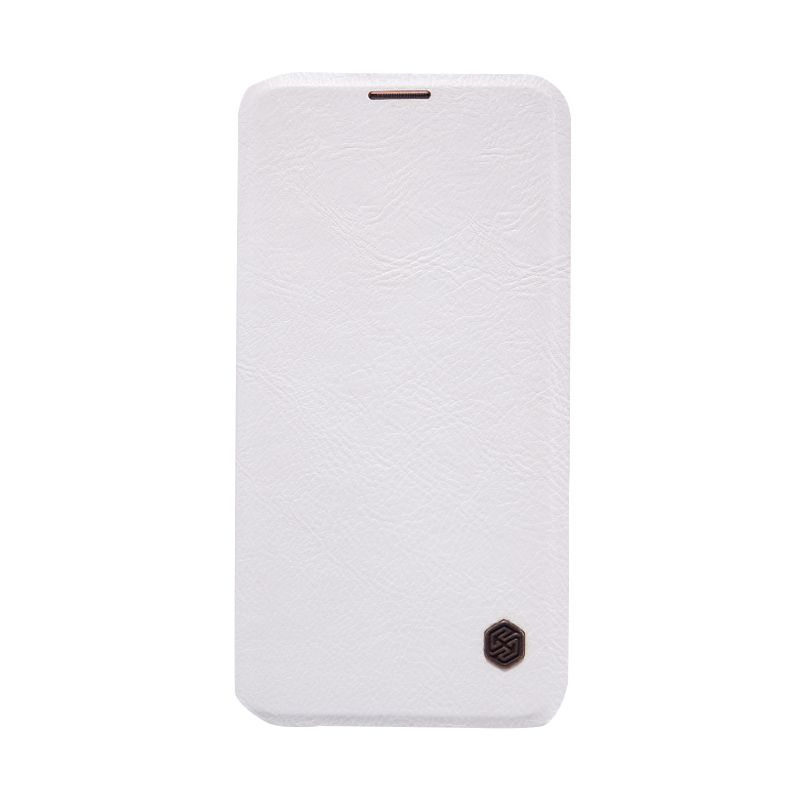 Nillkin Qin Leather White Flip Cover Casing for Samsung Galaxy S6 Edge Plus [Original]