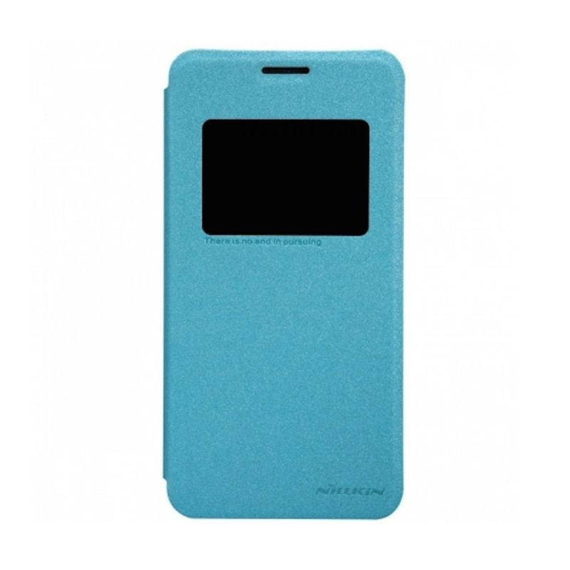 Nillkin Sparkle Leather Biru Casing for Asus Zenfone 5