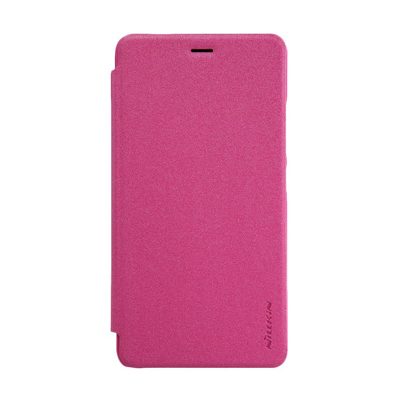 Nillkin Sparkle Leather Flip Cover Pink Casing for Xiaomi Redmi Note 2 [Original]