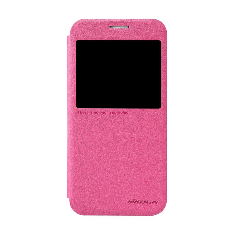 Nillkin Sparkle Leather Pink Flip Cover Casing for Samsung Galaxy S6