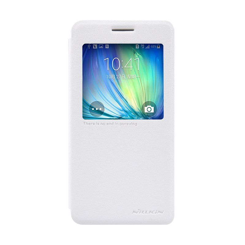 Nillkin Sparkle Leather Putih Casing for Samsung Galaxy A5