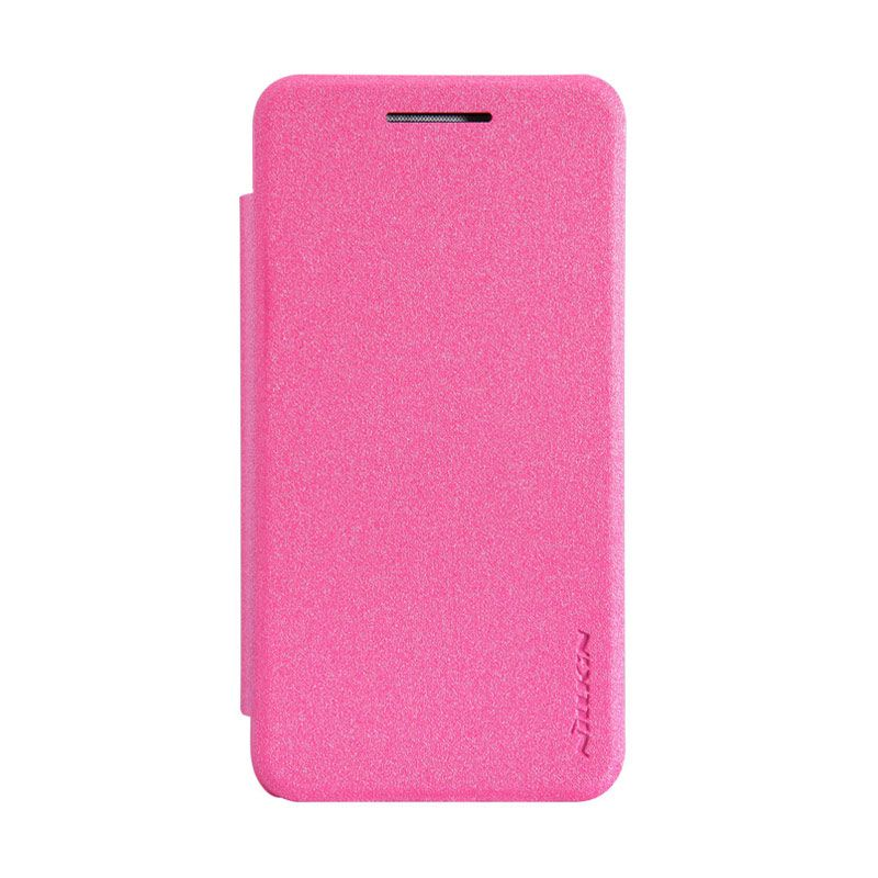 Nillkin Sparkle Leather Rose Red Casing for Asus Zenfone 4 A400CG [1600 mAh]