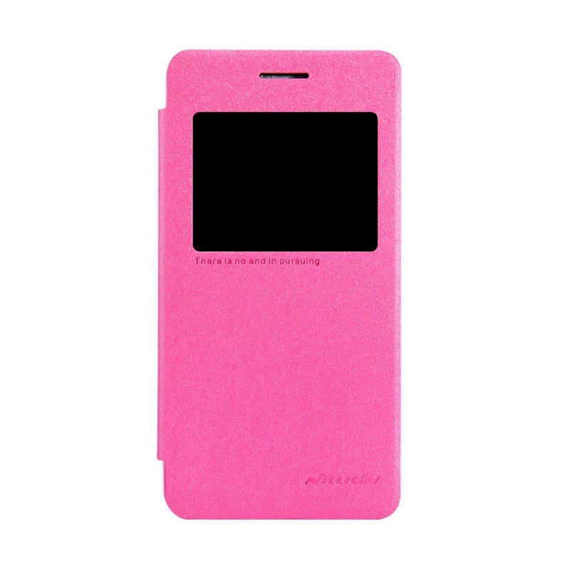 Nillkin Sparkle Leather Rose Red Casing for Asus Zenfone 4S A450CG