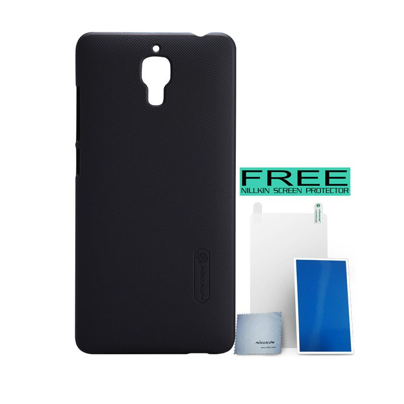 Nillkin Super Frosted Shield Black Casing for Xiaomi Mi4 + Bonus