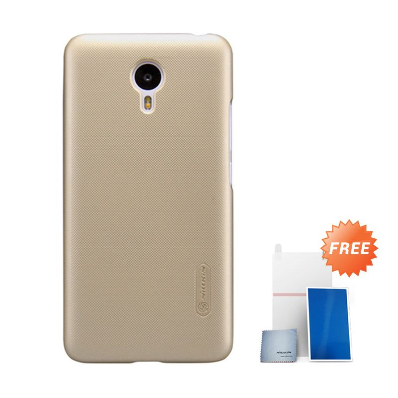 Nillkin Super Frosted Gold Casing for Meizu M2 Note + Screen Protector