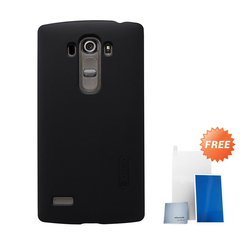 Nillkin Super Frosted Shield Black Hard Casing for LG G4 Beat + Screen Protector [Original]