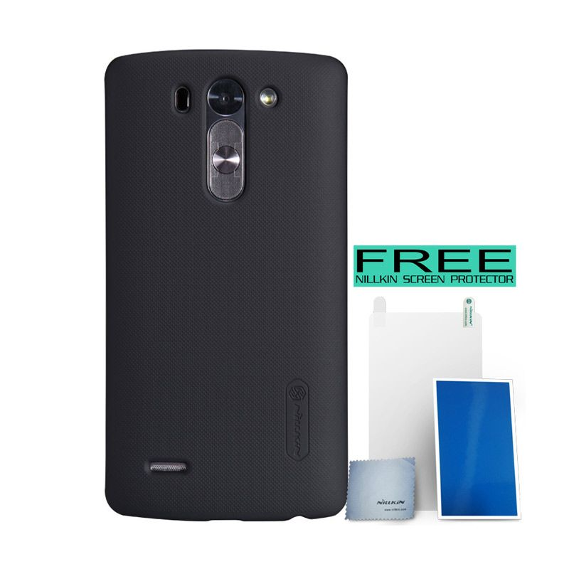Nillkin Super Frosted Shield Black Hardcase For LG G3 Beat + Bonus