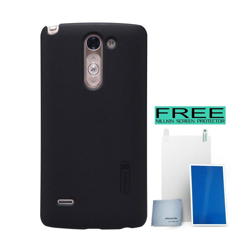 Nillkin Super Frosted Shield Black Hardcase for LG G3 Stylus + Bonus