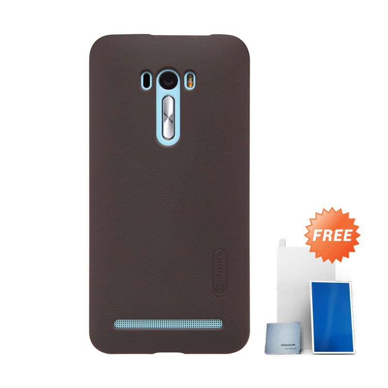 Nillkin Super Frosted Shield Brown Casing for Asus Zenfone Selfie ZD551KL + Screen Protector