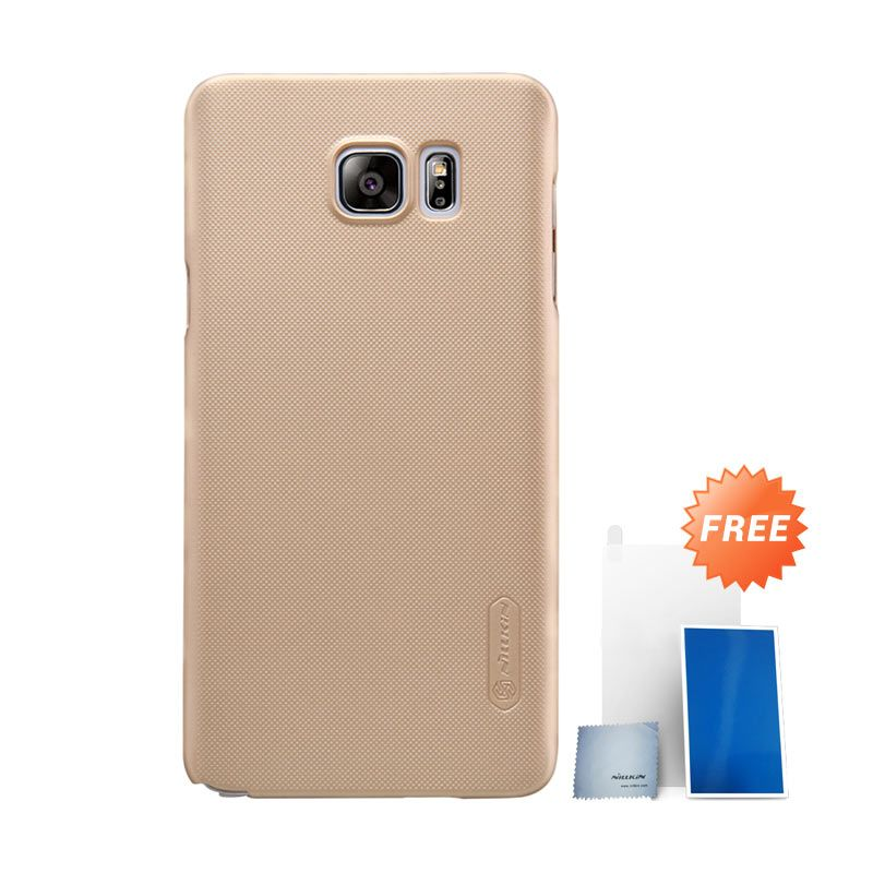 Nillkin Super Frosted Shield Gold Casing for Samsung Galaxy Note 5 + Screen Protector