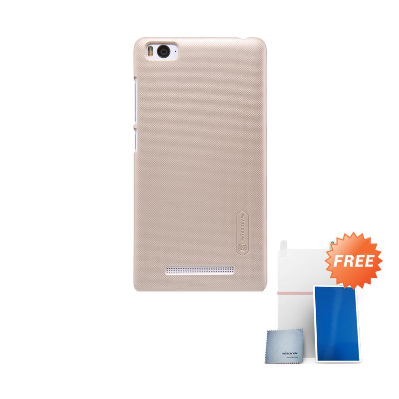Nillkin Super Frosted Shield Gold Casing for Xiaomi Mi 4i + Screen Protector