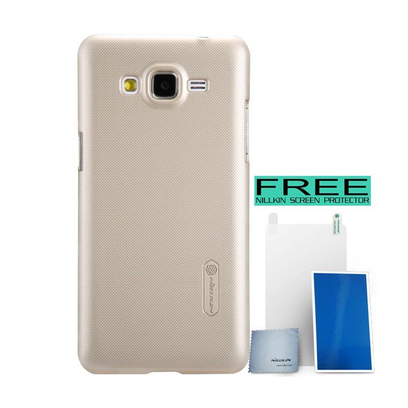 Nillkin Super Frosted Shield Gold Hardcase for Samsung Galaxy Grand Prime + Bonus