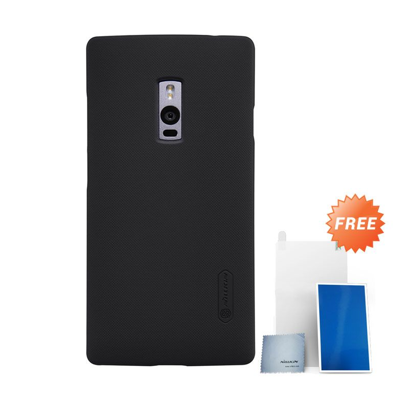 Nillkin Super Frosted Shield Black Hardcase Casing for OnePlus 2 + Screen Protector