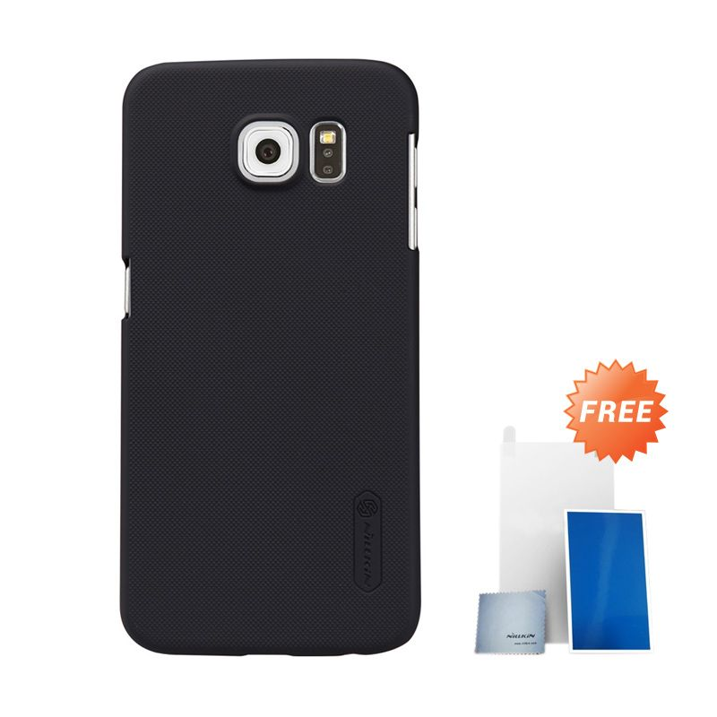 Nillkin Super Frosted Shield Black Hardcase Casing for Samsung Galaxy S6 G920F + Screen Protector